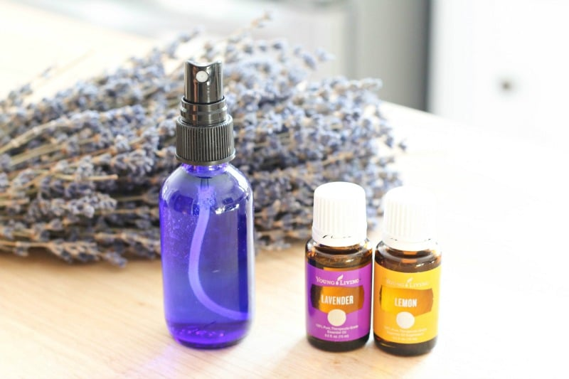 This DIY Spa Fresh Room Air Freshener Spray using essential oils is a simple way to freshen the air and remove odors without harmful toxins and chemicals.