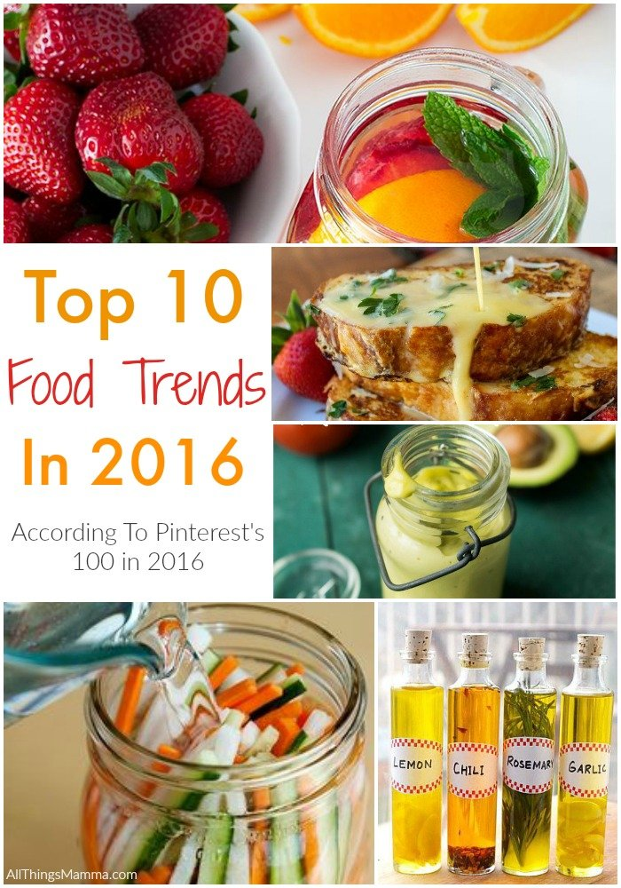 The Top 10 Food Trends in 2016 According to Pinterest's 100 in 2016
