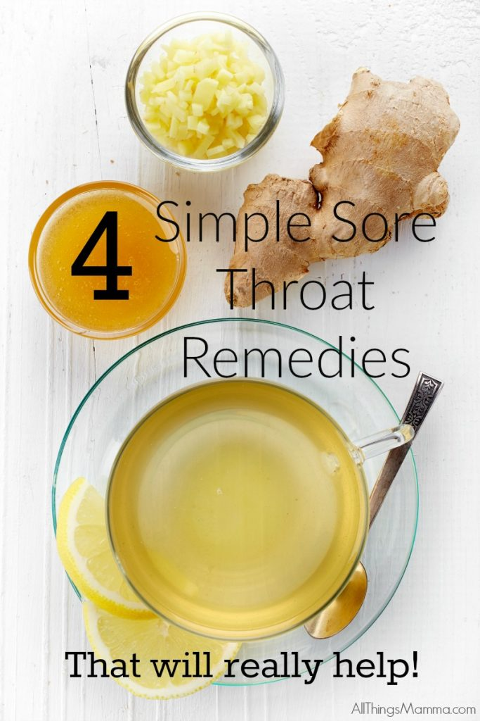 These 4 Sore Throat Remedies will have you feeling almost back to normal fast!