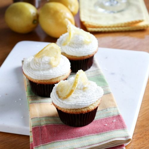This Lemon Drop Cupcake, inspired by a Lemon Drop Martini, is light, refreshing and can be made with or without alcohol. It's up to you!