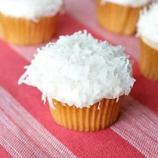 Coconut Cream Cupcakes with Homemade Buttercream Frosting