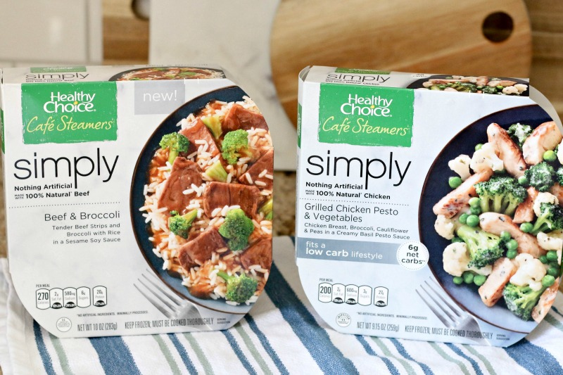 With 100 percent natural proteins and absolutely no artificial ingredients, Healthy Choice Simply Café Steamers uses are steamed to transform simple ingredients into vibrant, crisp vegetables and juicy proteins for a delicious, fresh taste.