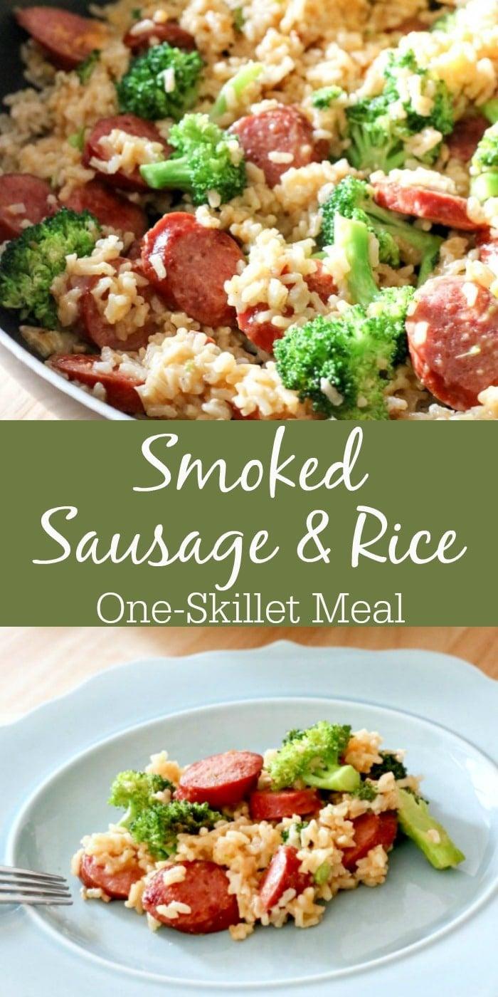 Smoked Sausage Rice One Skillet Meal