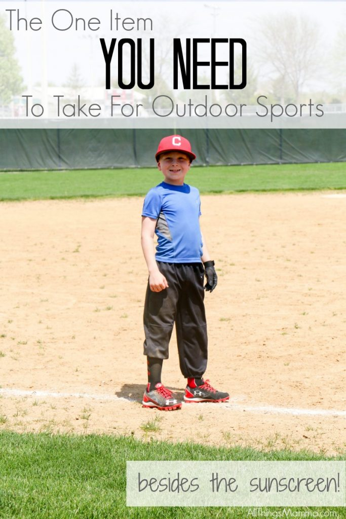 Check out my new FAVORITE item for outdoor sporting events - besides sunscreen!