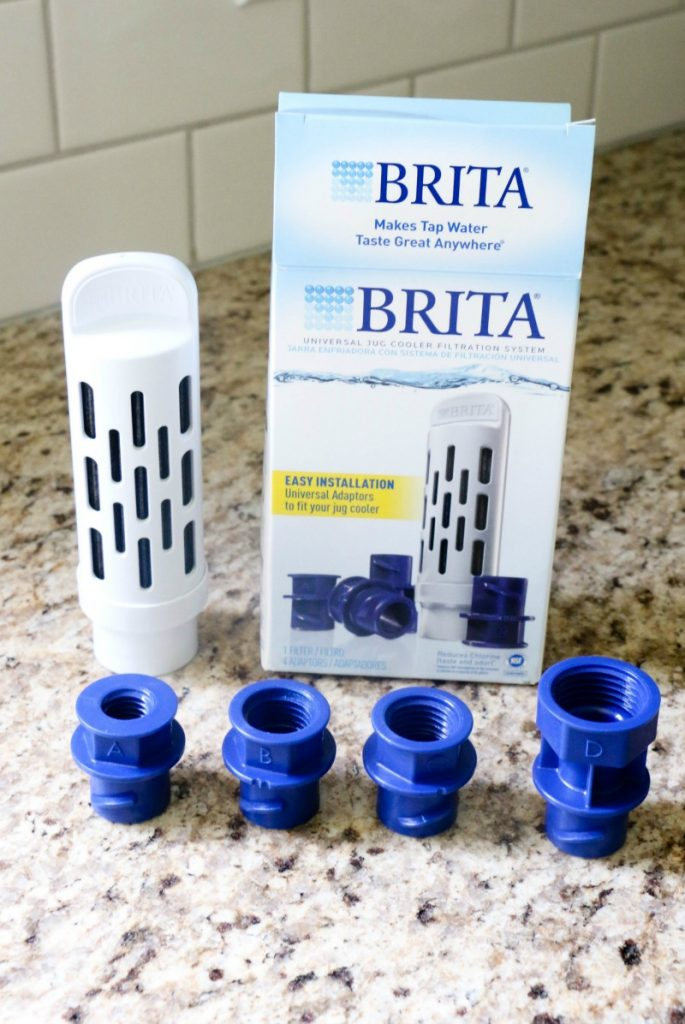 The Brita Jug Filter system and filters are now available at HomeDepot.com and fits right into your favorite jug coolers from Coleman, Igloo and Rubbermaid, effectively filtering out chlorine taste and odor from typical tap water. No plastic taste here!