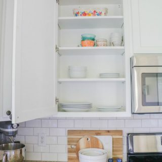 How To Line Your Kitchen Cabinets Easily