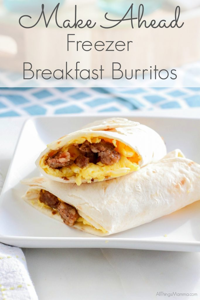 You're gonna love this easy and delicious make-ahead freezer burrito!
