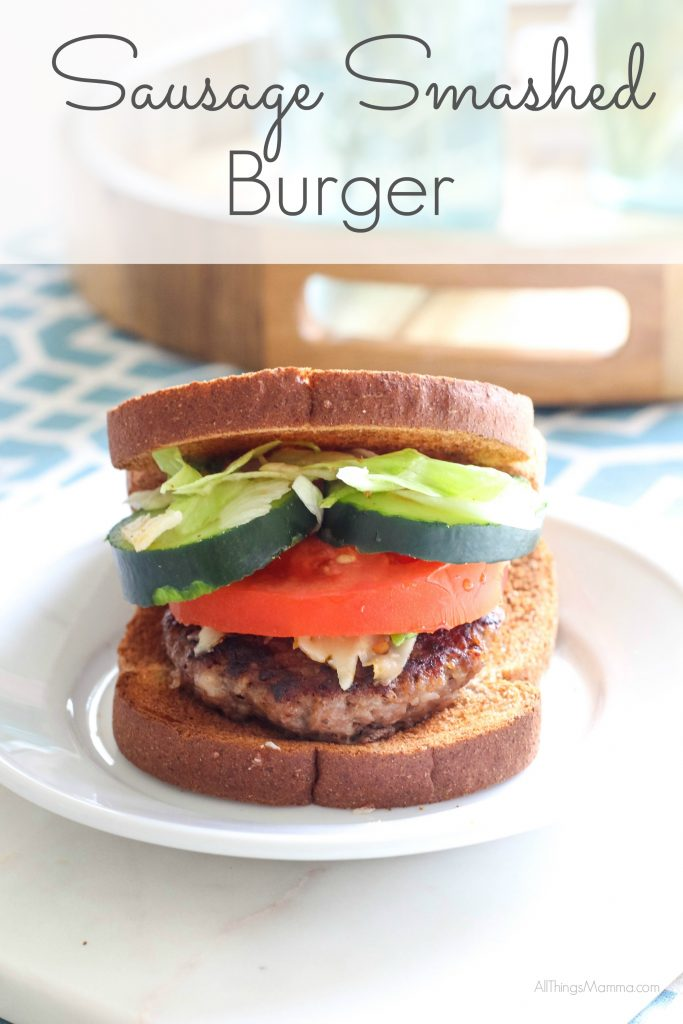 You're gonna love this easy and delicious sausage smashed burger from Jimmy Dean!