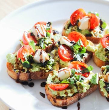Here's a quick and easy appetizer idea that is perfect for any occasion! Caprese Salad Avocado Toast is one of my new favorites and it will become one of your favorites, too!