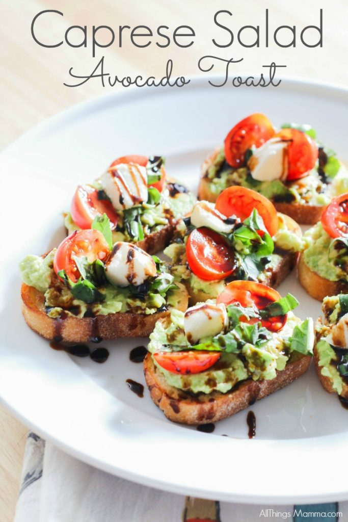 avocado toast, appetizer, caprese salad