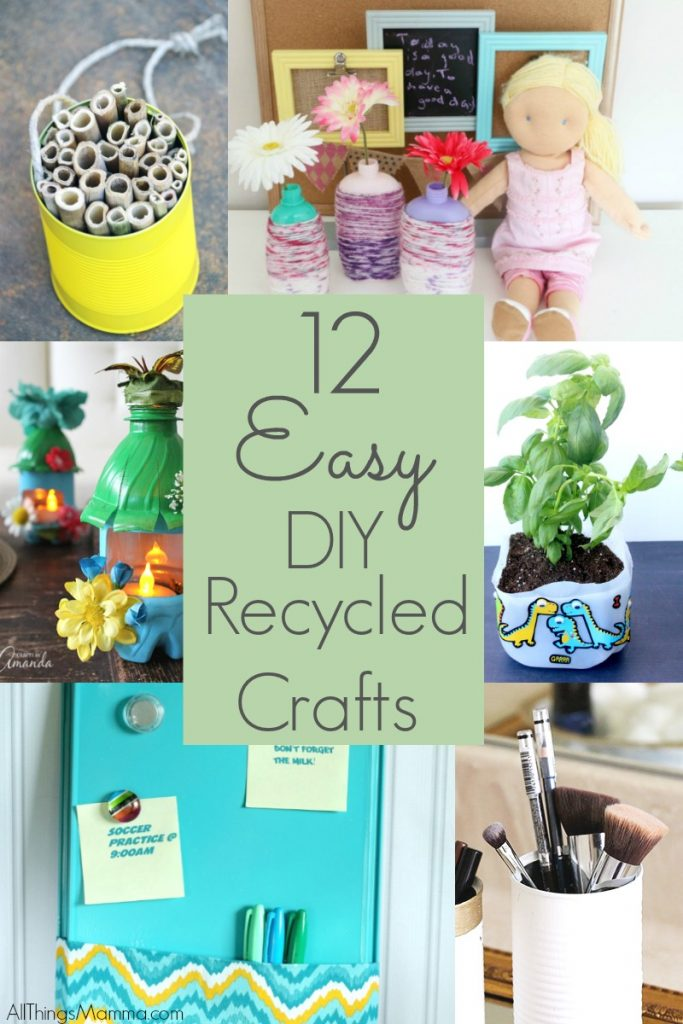 Diy recycled bottle flower vase craft for Easy recycling ideas