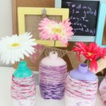 "What better way to introduce recycling and ""upcycling"" to kids than to do some fun craft projects like this EASY DIY Recycled Bottle Flower Vase Craft?!"
