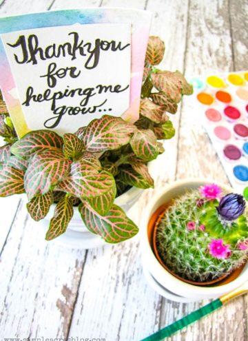 DIY Floral Teacher Appreciation Gift