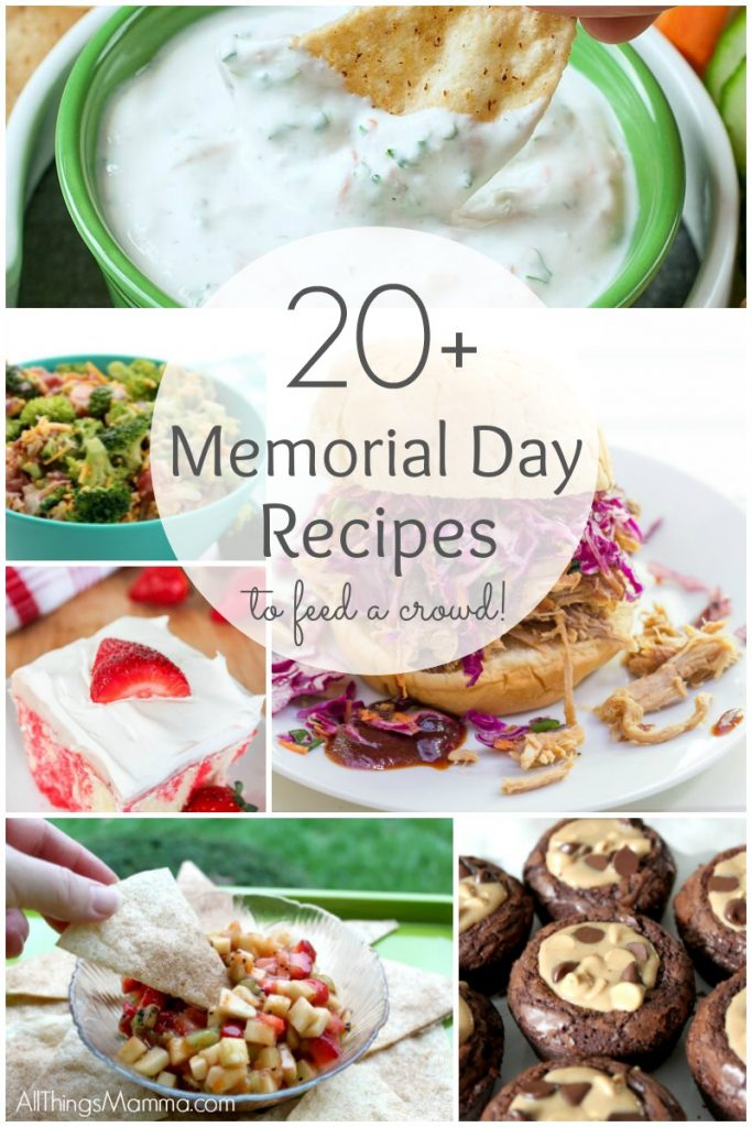 OVER 20 of the best Memorial Day Recipes to feed a crowd!