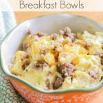 For a quick and easy breakfast meal, try these Sausage & Egg Breakfast Bowls! Easy to make and Trim Healthy Mama friendly!