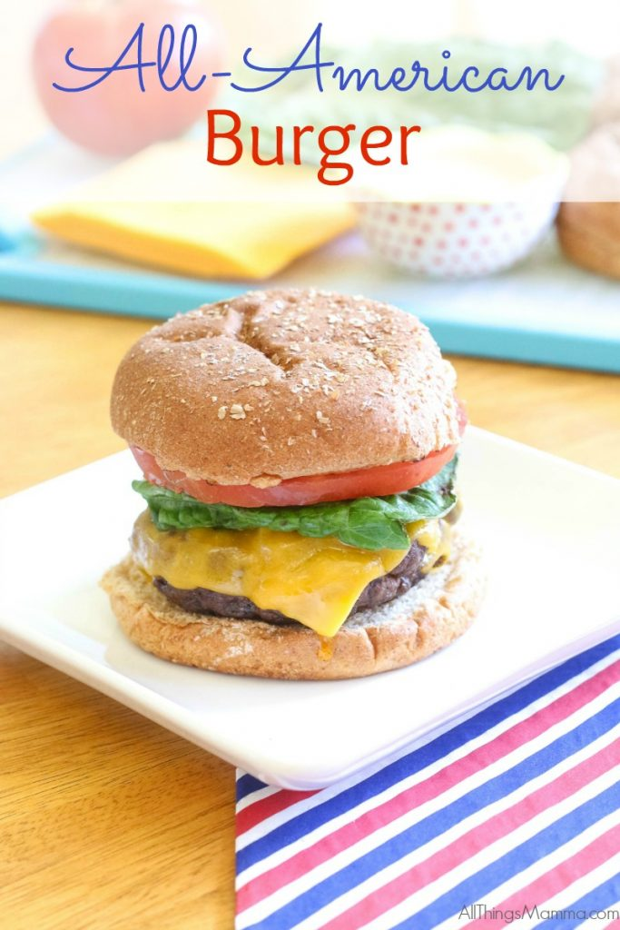 Make these All American Burgers for the Fourth of July and your backyard barbecue will be the neighborhood party of the season!