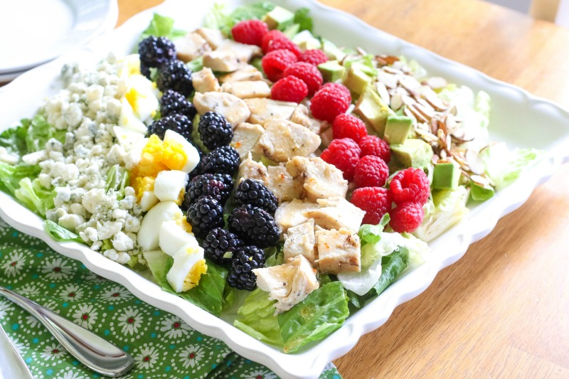 summer salad on a plate