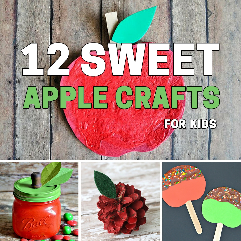 Here's 12 Sweet Apple Crafts for Kids - decorations and thoughtful gifts for the friends and family your child loves!