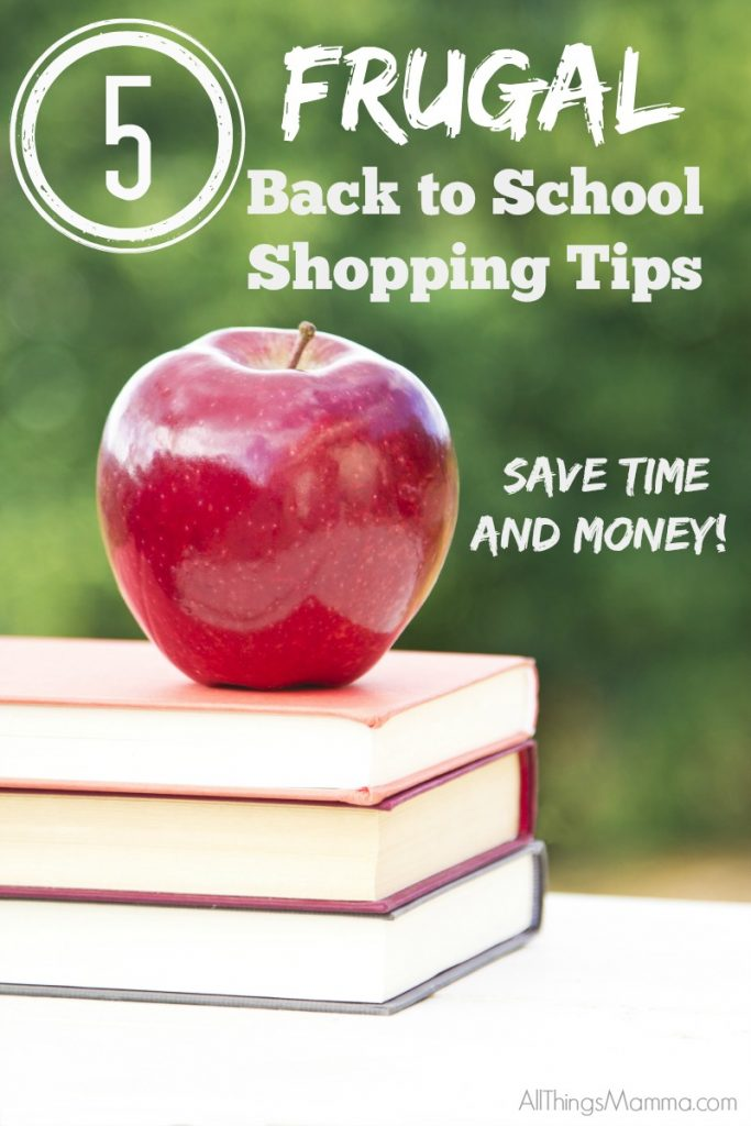 Love these 5 AWESOME Frugal Back to School Shopping Tips!