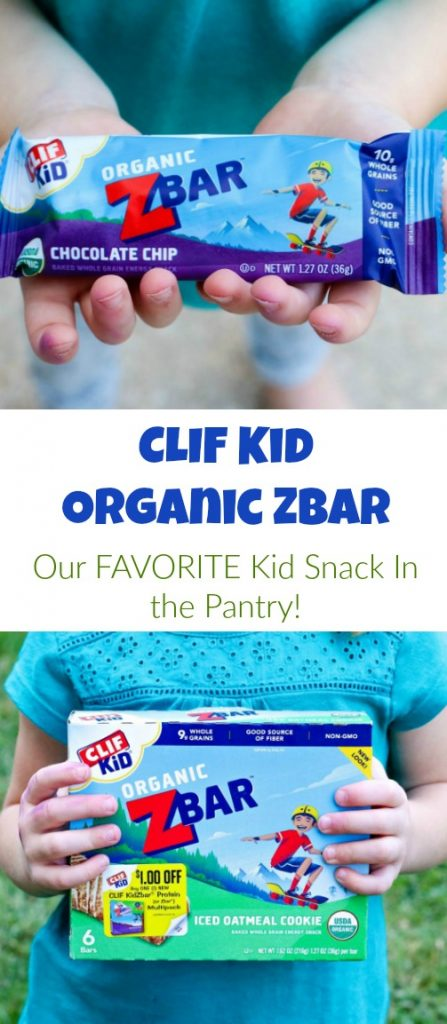 CLIF Kid Organic Zbars are our FAVORITE nutritious kid snack in the pantry!