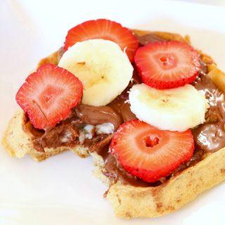 Nutella Fruit Waffles