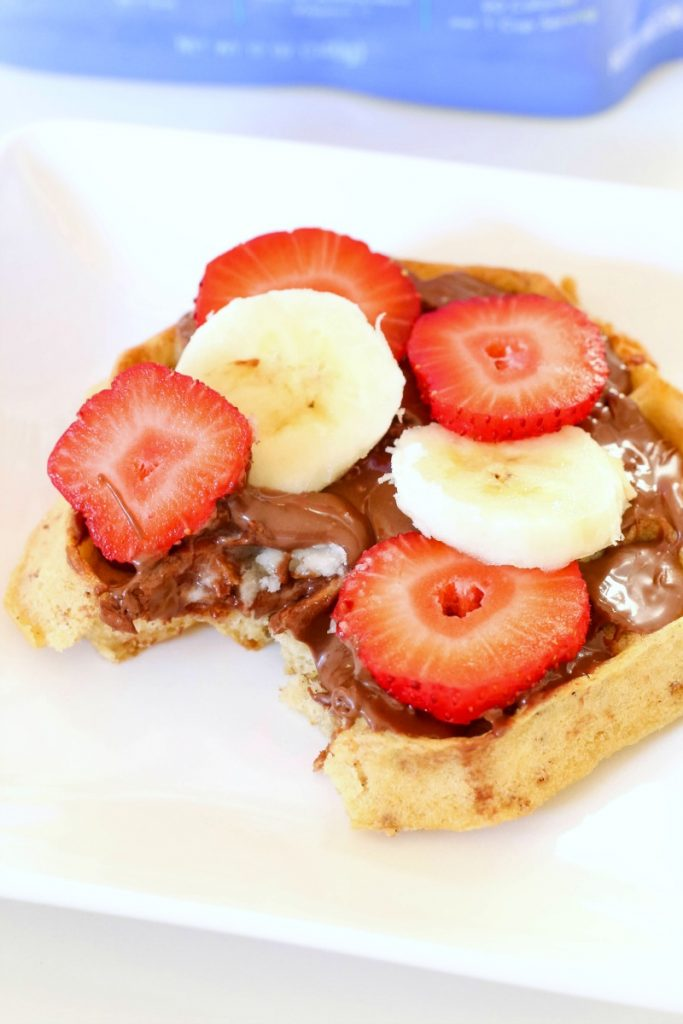 Waffles with Nutella and Fruit is the perfect easy Nutella recipe when you want something sweet and delicious. It's a winner every time!
