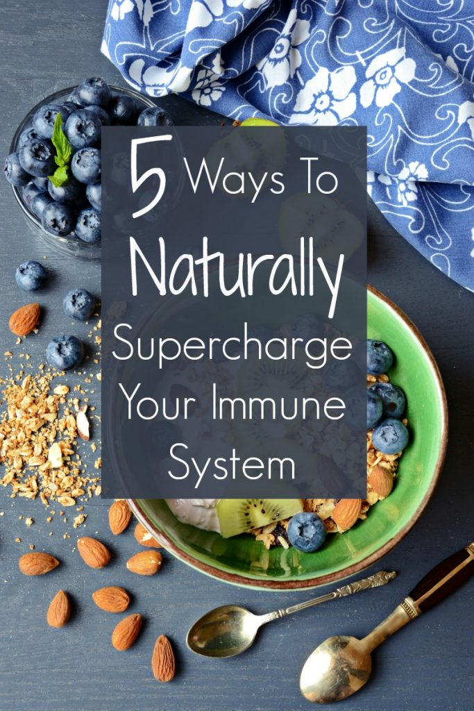 These 5 Ways to Supercharge Your Immune System - all natural immune system boosters - are easy and effective ways to stay happy and healthy all season long!