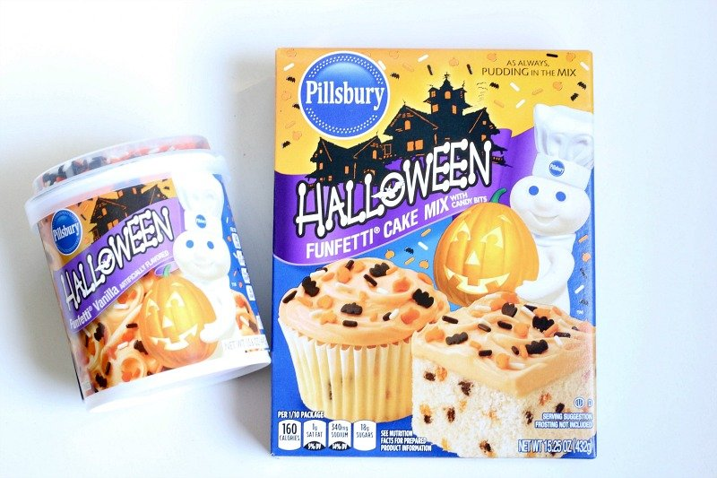 Pillsbury Halloween Funfetti Cake Mix and Frosting