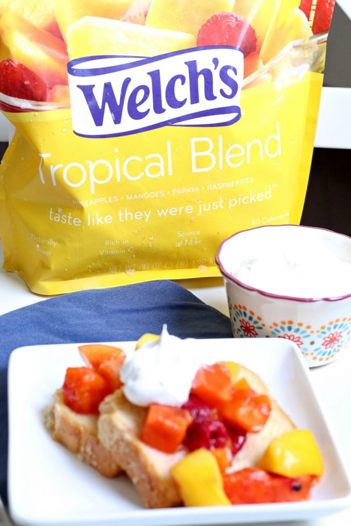 Looking for a healthier dessert?  Try this Pound Cake with Fruit and Whipped Cream!  It's the perfect easy weeknight dessert that everyone will love!