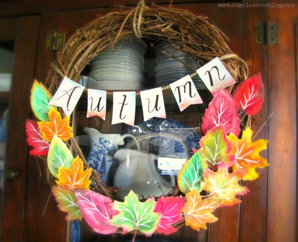 how to make a fall wreath youtube