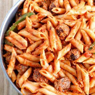One-Skillet Creamy Tomato Italian Sausage Pasta