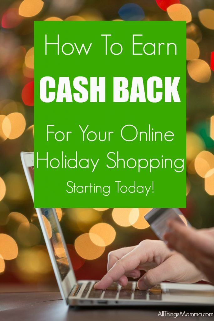 This is a GREAT way to earn cash back from all of your online purchases this holiday season!