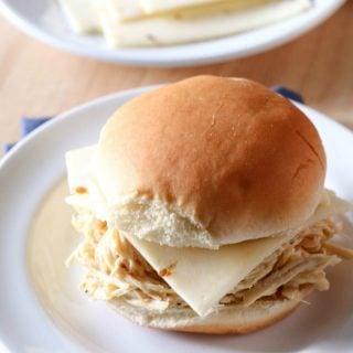 Slow Cooker Cheesy Chicken Ranch Sandwich