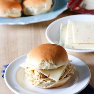 Slow Cooker Cheesy Chicken Ranch Sandwich