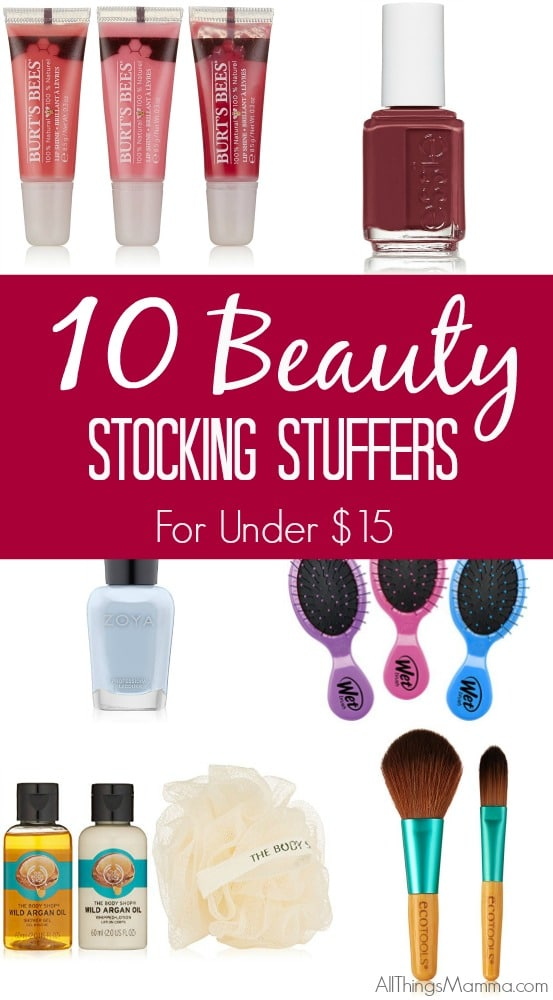 Check out these awesome 10 Beauty Stocking Stuffer Gifts for under $15!!