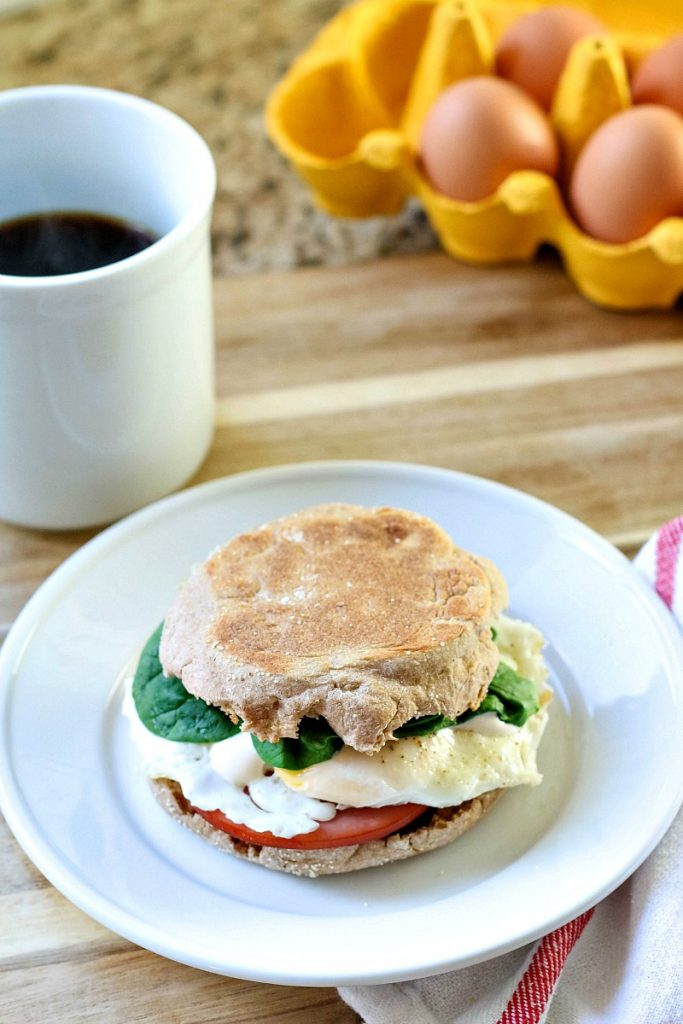 This quick and easy Eggs Benedict Sandwich is the perfect way to start the day!