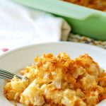 Made with simple ingredients, this Easy & Delicious Cheesy Potato Casserole Recipe is a must-have for any get-together you host!