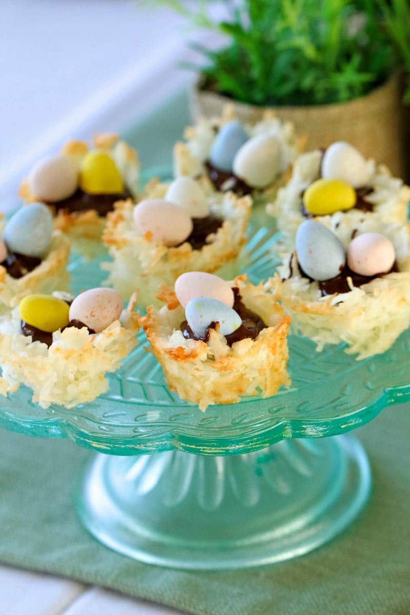 These Coconut-Macaroon Nests are so easy to make, yet everyone will think you bought them at a bakery