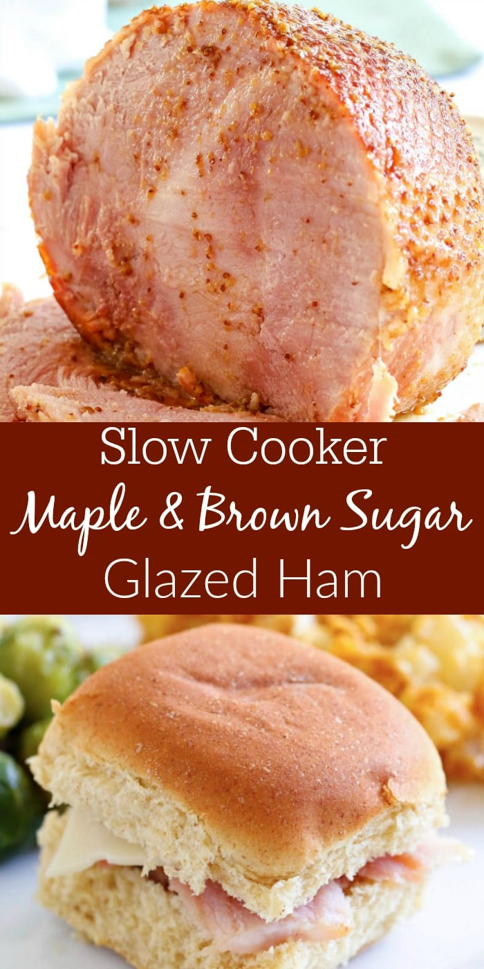 For a show-stopping Easter Meal, try this Slow Cooker Dijon Maple & Brown Sugar Glazed Ham Recipe!