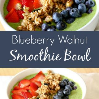 This Blueberry Walnut Smoothie Bowl Recipe is super easy and so delicious, I'm sure you'll want to make it at least once a week!