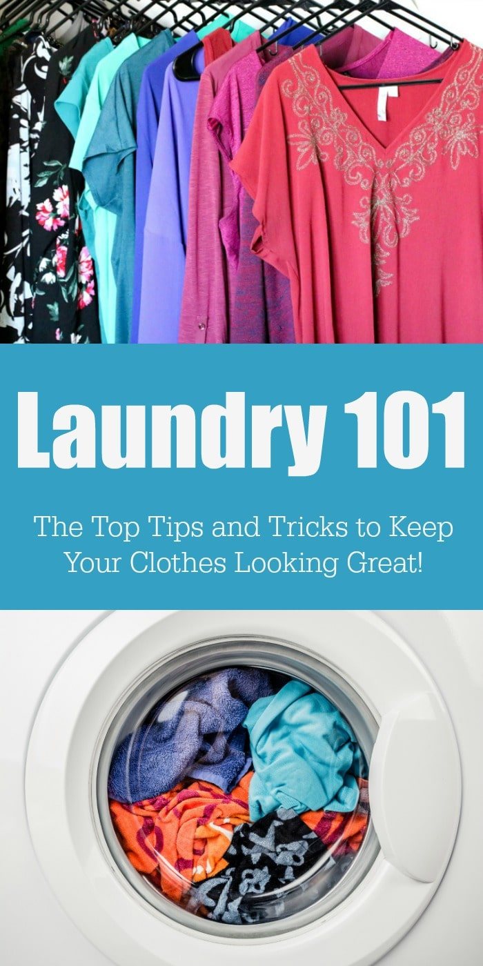 Take the guesswork out of doing laundry! Keep your clothes look great with this Laundry 101 post for the best laundry tips and tricks around!