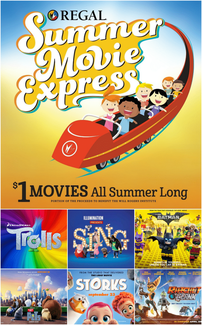 REGAL SUMMER MOVIE EXPRESS 2017 – $1 MOVIES
