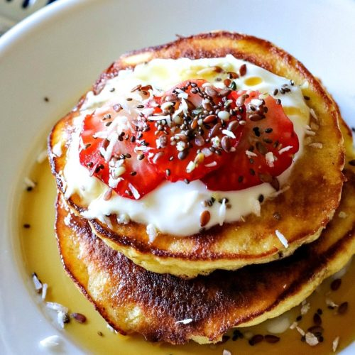Coconut Flour Pancakes. These Gluten-Free, No Fail, Coconut Flour Pancakes will rock your socks off! They're THAT good and THAT easy!