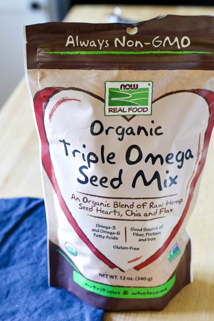 organic triple omega seed mix, now brand