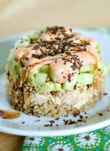 For a quick, easy and delicious meal, try these Spicy Tuna Quinoa Stacks! Full of flavor and good for you, too!