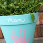 DIY Mother's Day Handprint Flower Pot