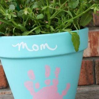 DIY Mother's Day Handprint Flower Pot