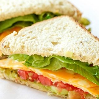 Cheese and Veggie Sandwiches