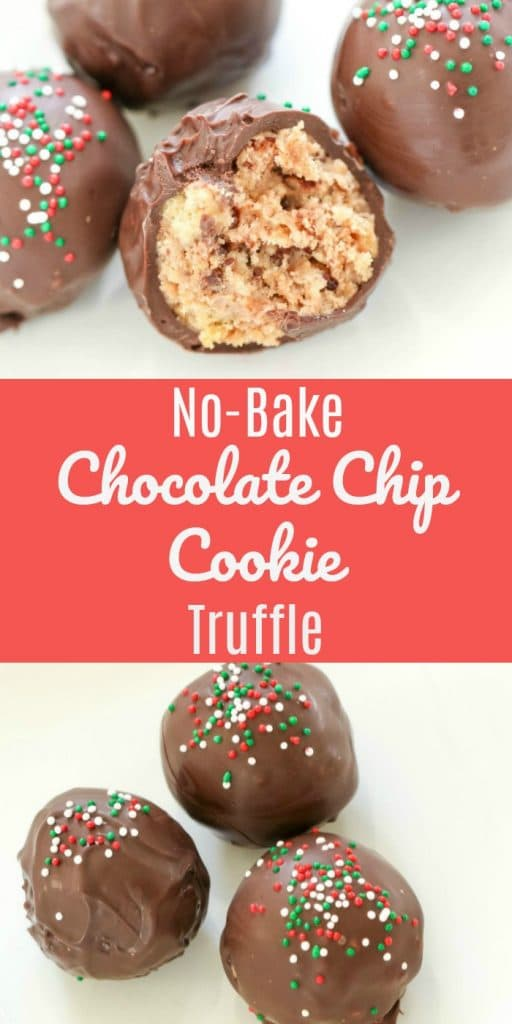No-Bake Chocolate Chip Cookie Truffle