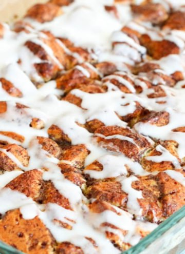 Easy Cinnamon Roll French Toast Casserole